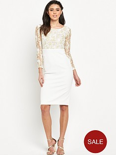 rare-long-sleeve-lace-top-midi-dress
