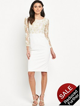 rare-long-sleeve-lace-top-midi-dress