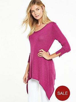 v-by-very-v-neck-dipped-side-drapey-jumpernbsp