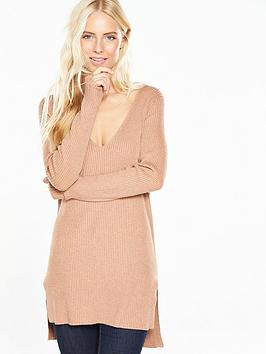 v-by-very-v-neck-jumper-with-ribbed-fabric-and-split-side-detailing