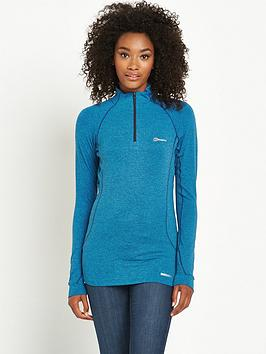 berghaus-thermal-long-sleeve-zip-baselayer-blue