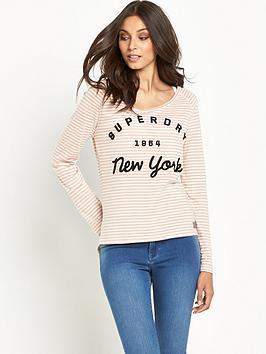 superdry-appliqueacutenbspraglan-long-sleeved-t-shirt-blush-pinkcream-stripe
