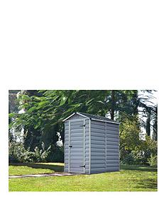palram-6x4-ft-skylight-shed-anthracite