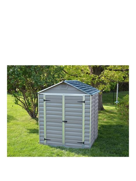 canopia-by-palram-6x5-ft-double-door-skylight-shed-anthracite