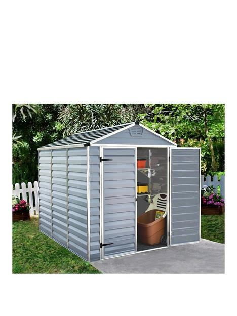 canopia-by-palram-6x8-ft-skylight-double-door-shed-anthracite