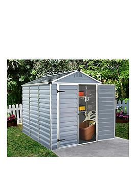 palram-6x8-ft-skylight-double-door-shed-anthracite