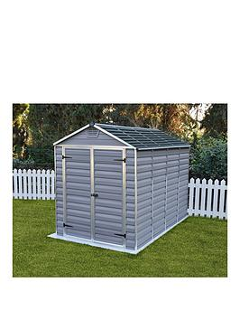 palram-6x10-ft-skylight-shed-anthracite
