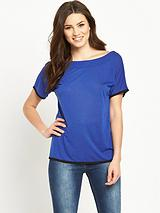 Ruched Strap Back Jersey Top