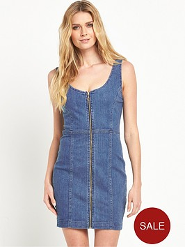 v-by-very-panelled-zip-through-denim-dress