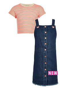 river-island-girls-denimnbsppinny-with-stripe-crop-tee-set