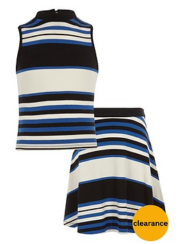 river-island-girls-stripe-fitted-top-and-skater-skirt-set