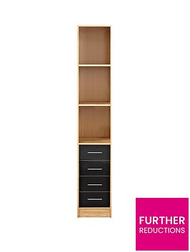 kidspace-ohio-4-drawer-display-shelf-unit-black-pink