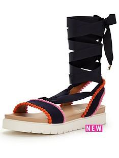miss-kg-dakota-multi-strap-flat-sandal-black