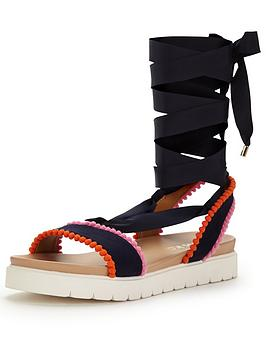 miss-kg-dakota-multi-strap-flat-sandal-black