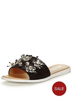 miss-kg-dandelion-floralnbspslide-sandal-black