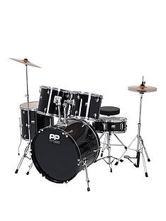 performance-percussion-full-size-5-piece-drum-kit-ndash-black