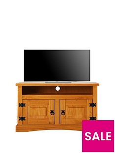 Corona Solid Wood Corner TV Unit - fits up to 40 inch TV