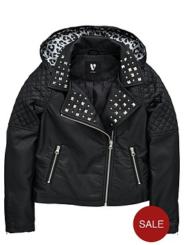 v-by-very-girls-hooded-pu-biker-with-stud-detail