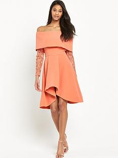 the-8th-sign-bardot-lace-sleeve-dress