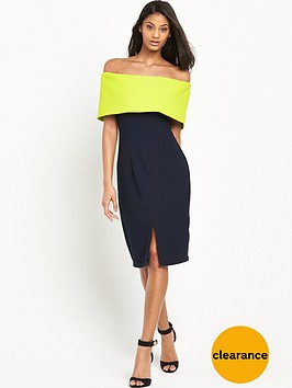 the-8th-sign-contrast-bandeau-dress