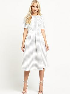 the-8th-sign-34-sleeve-midi-dress