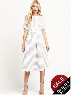 the-8th-sign-34-sleeve-midi-dress