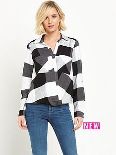river-island-check-wrap-blouse