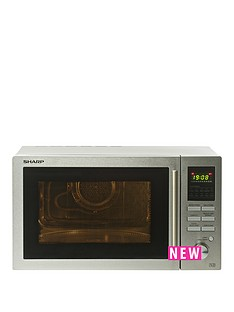 sharp-sharp-r82stma-25l-combi-microwave-stainless-steel