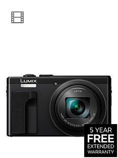 panasonic-lumix-tz80nbspsuper-zoom-digital-camera-4k-ultra-hd-181-megapixel-30xnbspoptical-zoom-wi-fi-evf-3-inchnbsplcdnbsptouch-screennbsp--blacknbspwith-extended-5-year-warranty-available