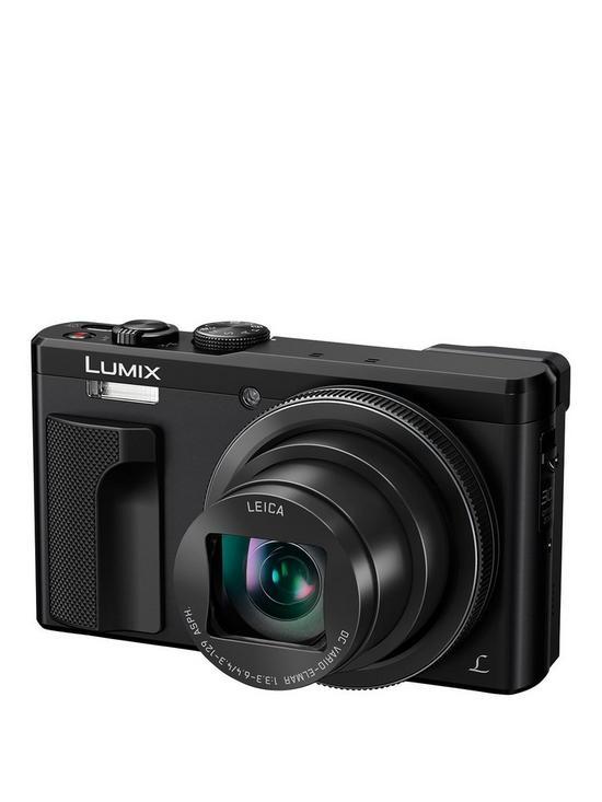 af3ee499f Panasonic Lumix DMC-TZ80 30x Zoom Digital Camera with 24mm Leica Camera  Lens - Black.