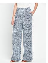 Printed Palazzo Trouser