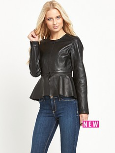 v-by-very-zip-detail-leather-peplum-jacketnbsp