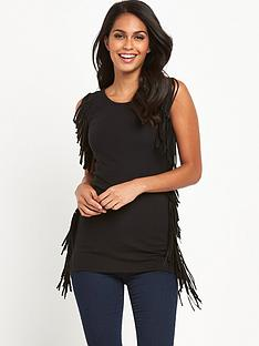 v-by-very-fringe-trim-longline-jersey-vest