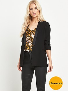 river-island-ruched-sleeve-blazer