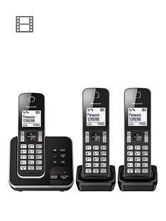 panasonic-kx-tgd323eb-cordless-telephone-trio