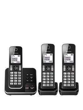 Panasonic Kx-Tgd323Eb Cordless Telephone - Trio