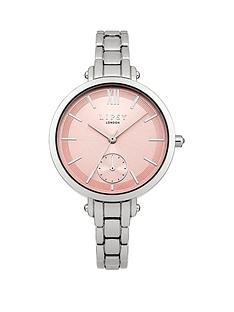 lipsy-lipsy-pink-sunray-dial-silver-tone-metal