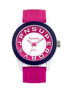superdry-superdry-matt-white-pink-chapter-dial-pink-silicone-ladies-strap-watch