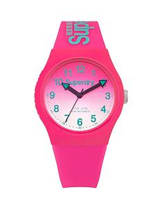 superdry-superdry-gradient-mirror-pink-dial-pink-silicone-ladies-strap-watch