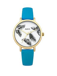 oasis-oasis-blue-strap-butterfly-face-ladies-watch