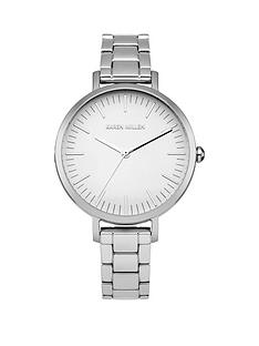 karen-millen-white-gloss-dial-capped-stainless-steel-polished-strap-ladies-watch