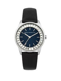 french-connection-french-connectionnbspladies-queensway-black-leather-strap-watch