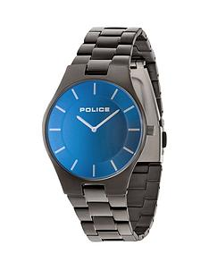 police-police-blue-dial-gun-bracelet-mens-watch