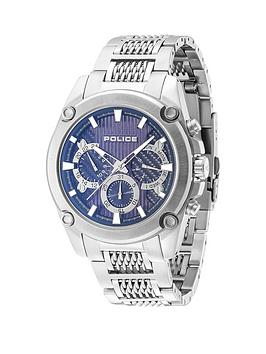 police-police-blue-dial-stainless-steel-bracelet-mens-watch