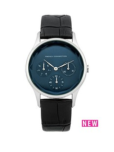 french-connection-french-connection-black-strap-blue-face-ladies-watch