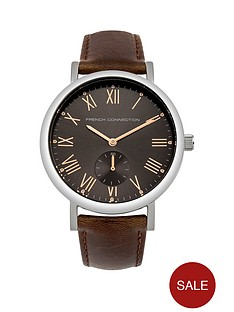 french-connection-french-connection-cool-grey-satin-sunray-dial-brown-padded-leather-strap-mens-watch