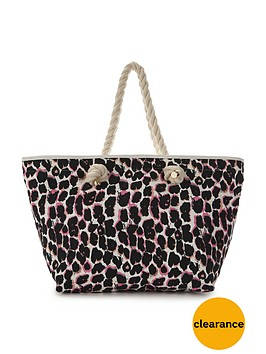 v-by-very-animal-print-beach-bag