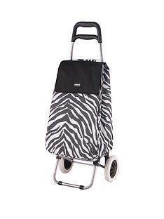 sabichi-sabichi-zebra-print-2-wheel-trolley