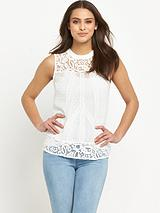 Lace Dobby Shell Top