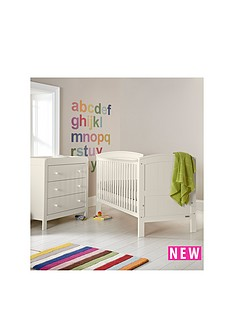 mamas-papas-hayworth-cot-bed-and-dresser-white